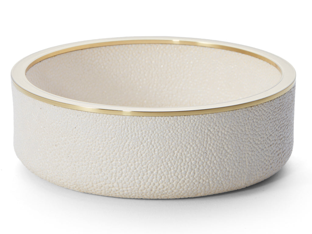AERIN Cream Shagreen Wine Coaster