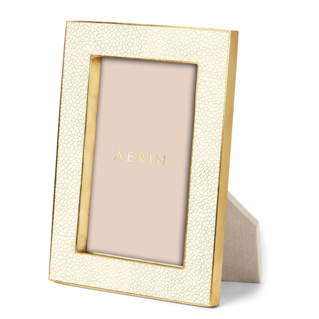 AERIN Shagreen Frame in Cream, 4X6