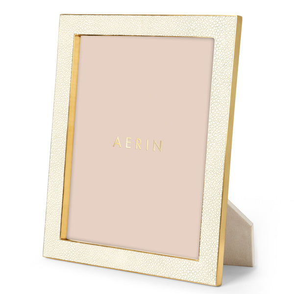 AERIN Shagreen Frame in Cream, 8X10