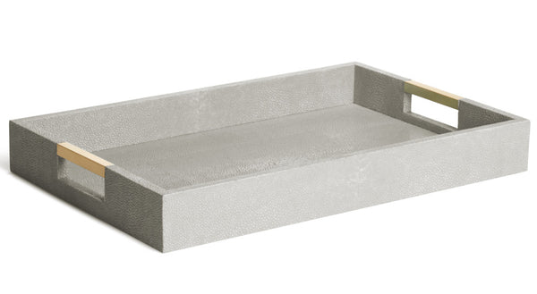 AERIN Modern Dove Shagreen Desk Tray