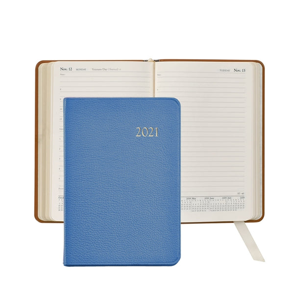 2021 Daily Journal, Light Blue Leather