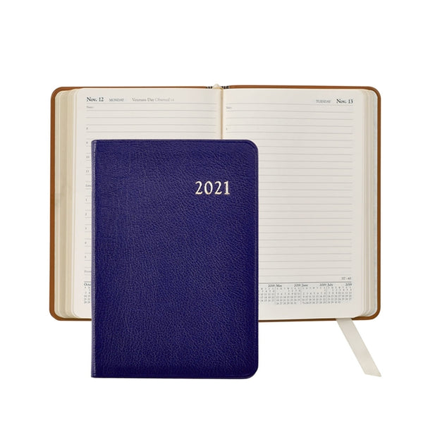 2021 Daily Journal, Indigo Leather
