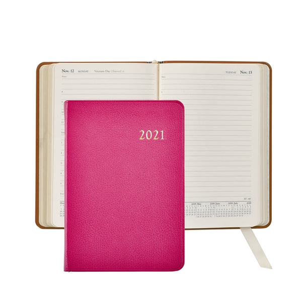 Graphic Image 2021 Daily Journal, Pink Leather