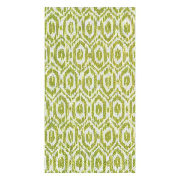 Amala Ikat Green Guest Towels