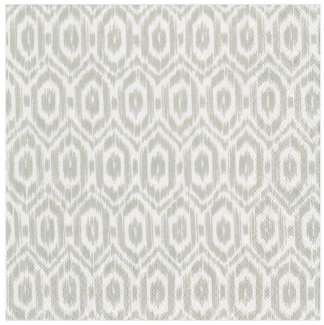 Amala Ikat Gray, Cocktail Napkins