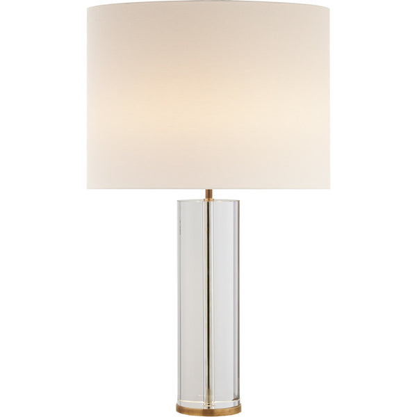 Lineham Table Lamp, Crystal and Brass