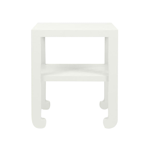 Askel Side Table, Pristine Faux Raffia