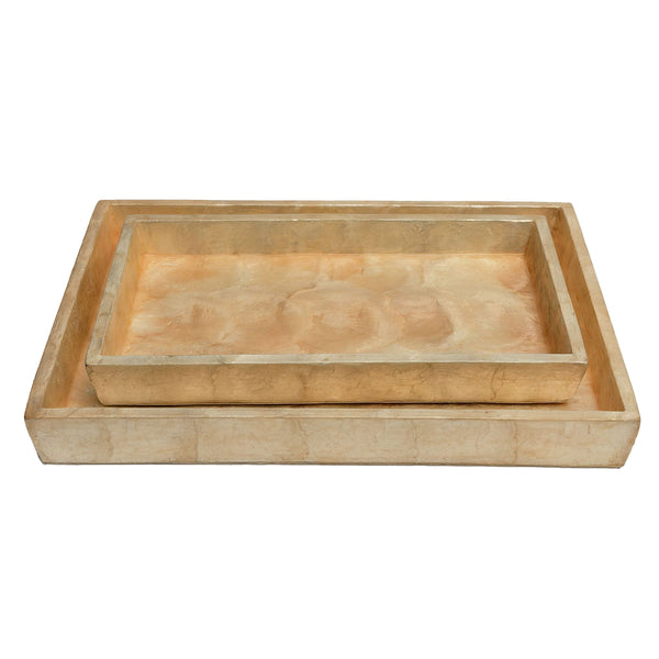 Pigeon & Poodle Andria Nested Tray Set, Smoked