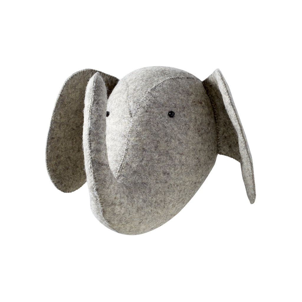 Light Grey Elephant Felt Head