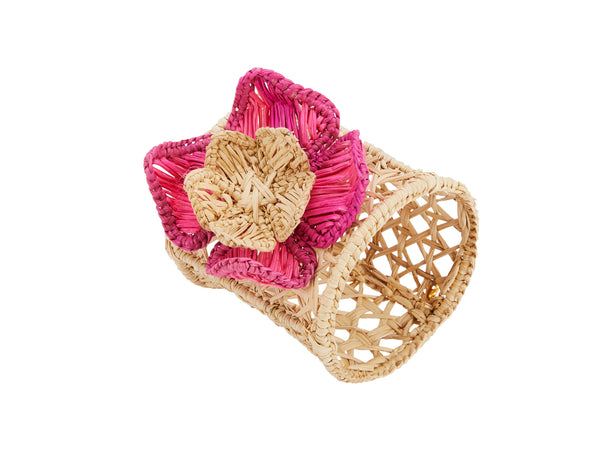 Raffia Rose Napkin Ring