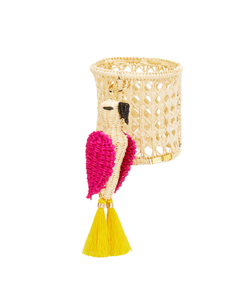 Raffia Cockatoo Napkin Ring
