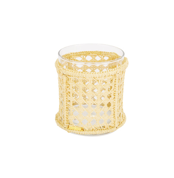 Raffia Vase with Glass Insert, Small
