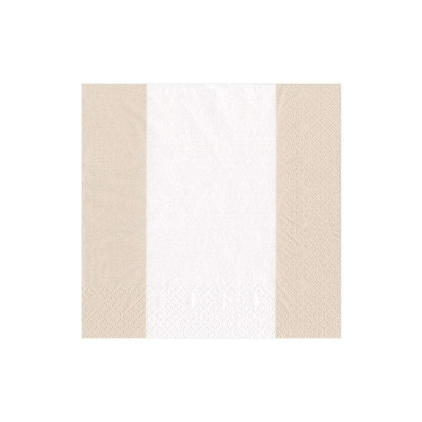 Bandol Stripe Natural Cocktail Napkins