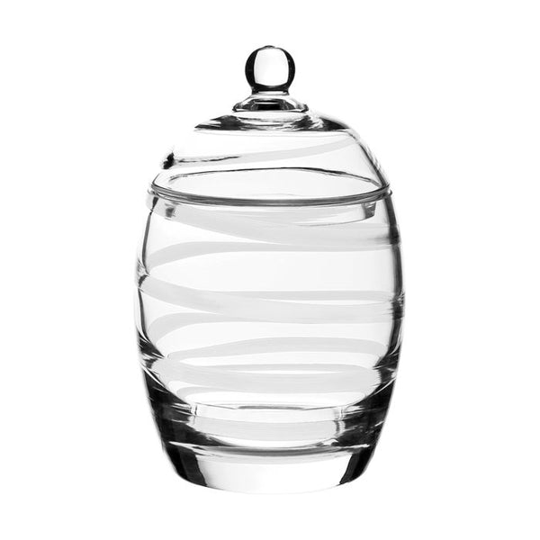 William Yeoward Crystal Bella Bianca Cookie Jar, 8.5""