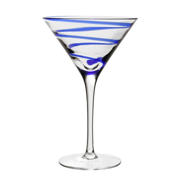 Bella Martini Glass, Blue