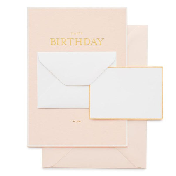 Birthday - Tiny Birthday Message, Pink