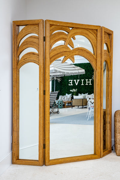 Bamboo Mirror Palm Screen