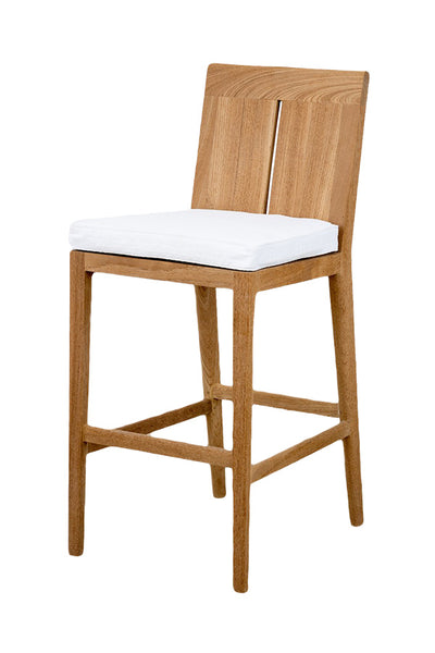 Bar Stool in Weathered Teak