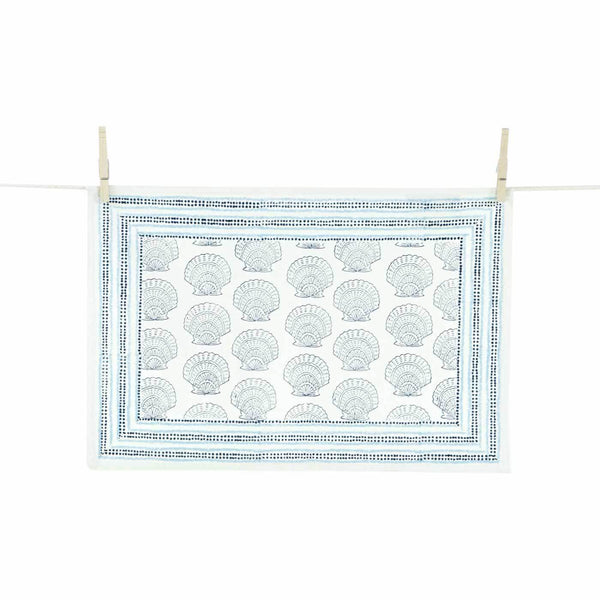 Calico Scallop Placemats, Set of 4