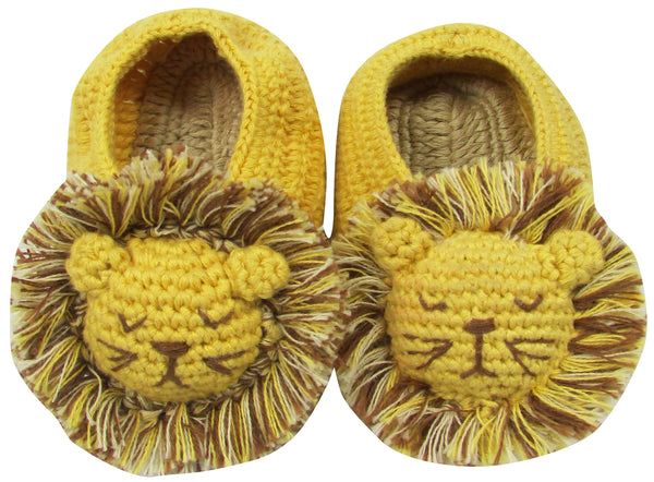 Crochet Lion Head Booties