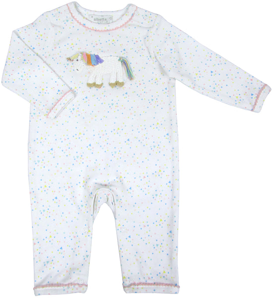 Crochet Rainbow Unicorn Romper
