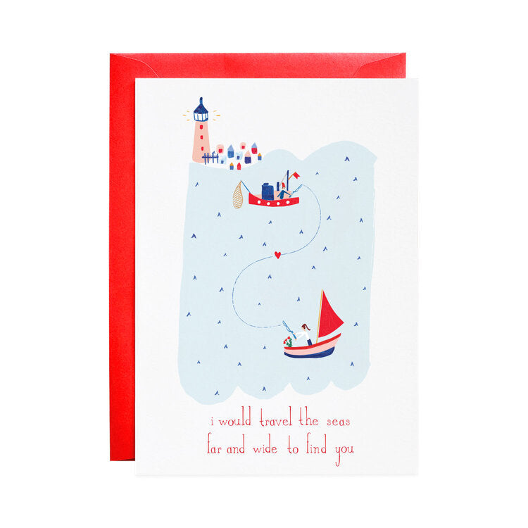 Lovers in the Sea, Valentine's Day Card