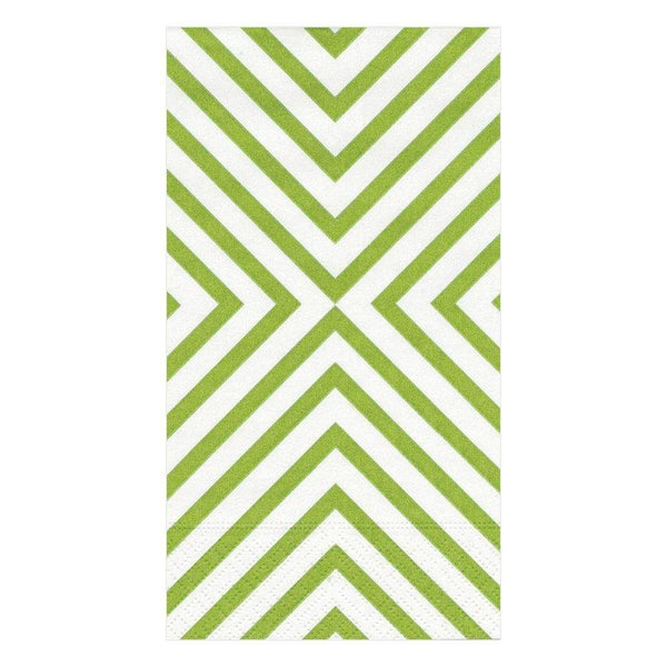 Chevron Green Guest Towels