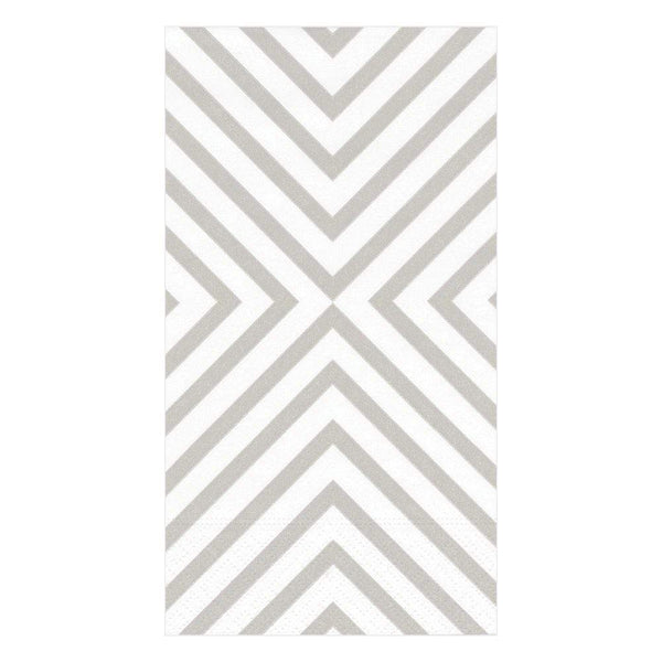 Chevron Pale Silver Guest Towels