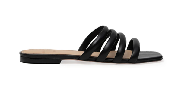 Black Suede Studio Coco Flat Sandals