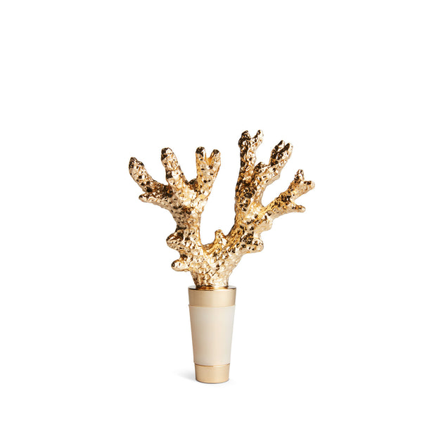 AERIN Gold Coral Bottle Stopper