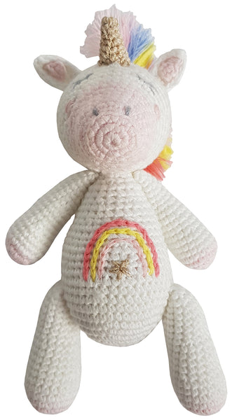 Albetta Crochet Unicorn Star Rattle