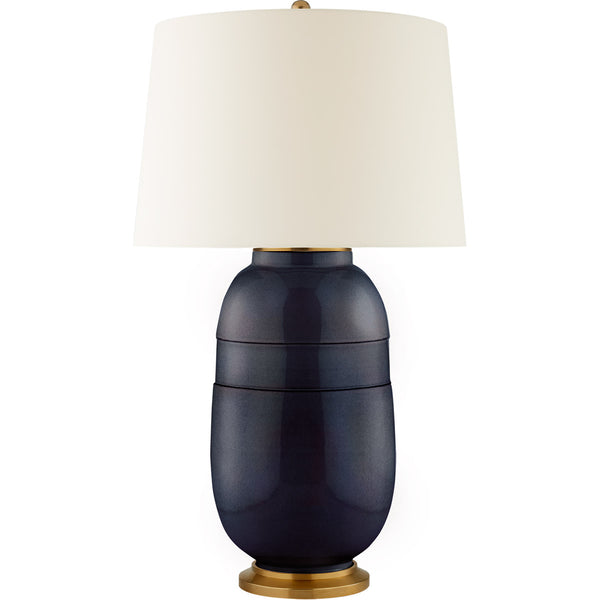 Newcomb Large Table Lamp, Mixed Blue Brown