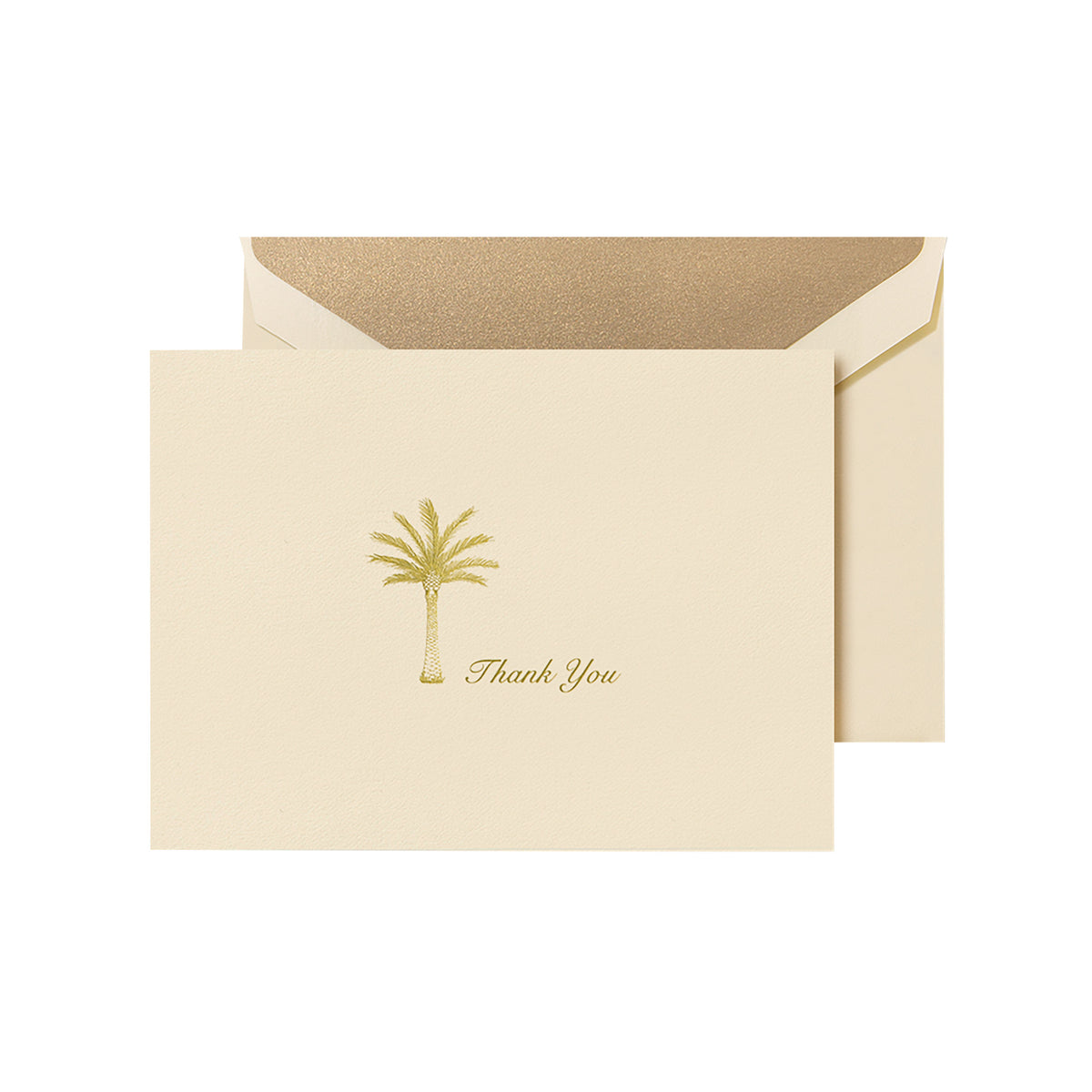 Crane - Thank You Palm Tree Folded Note with Gold Lining