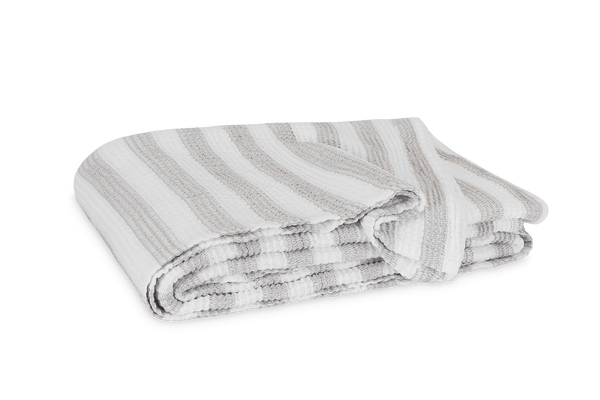 Matouk Cabana Blanket - White/Natural