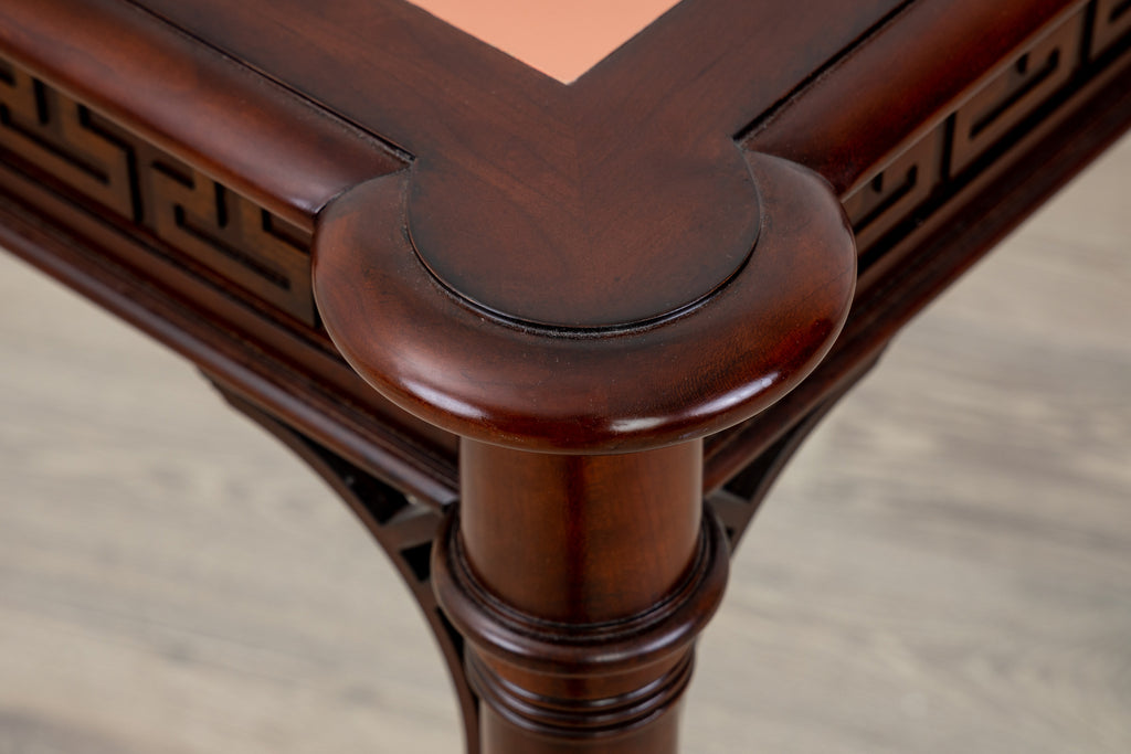 Card Table with Pink Leather