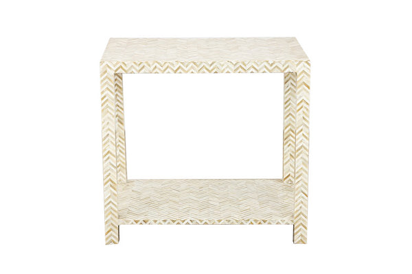 Ivory Bone Inlay Side Table