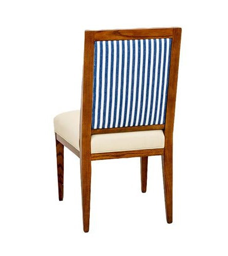 Cloison Side Chair in Blue Ticking Stripe