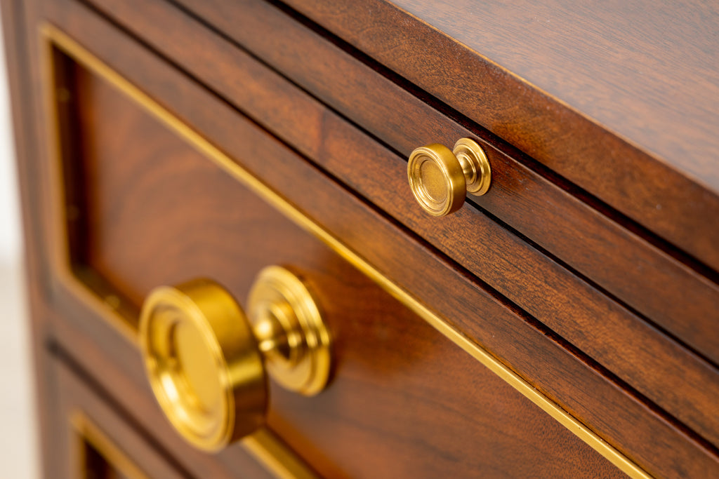 Chest with Solid Brass Inlay