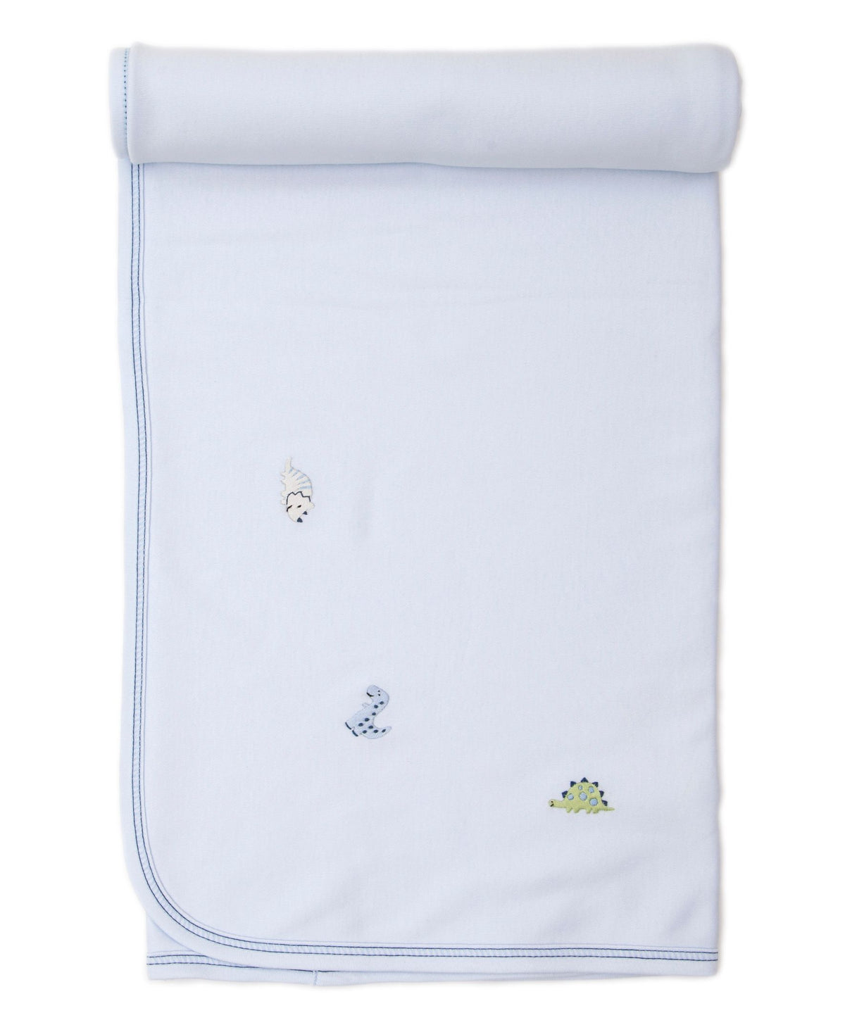Kissy Kissy Dino Dudes Blanket, Light Blue