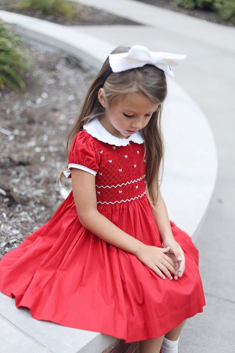 Antoinette Eloise Red Balloon Sleeve Dress