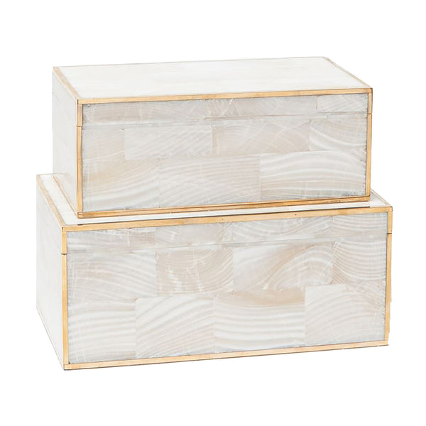 Erin Natural Clamstone Box, Large
