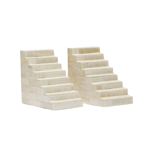 Frank Bone Staircase Bookend Set