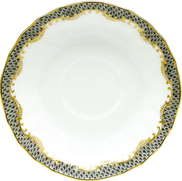 Herend Fish Scale Canton Tea Saucer, Gray 5.5""