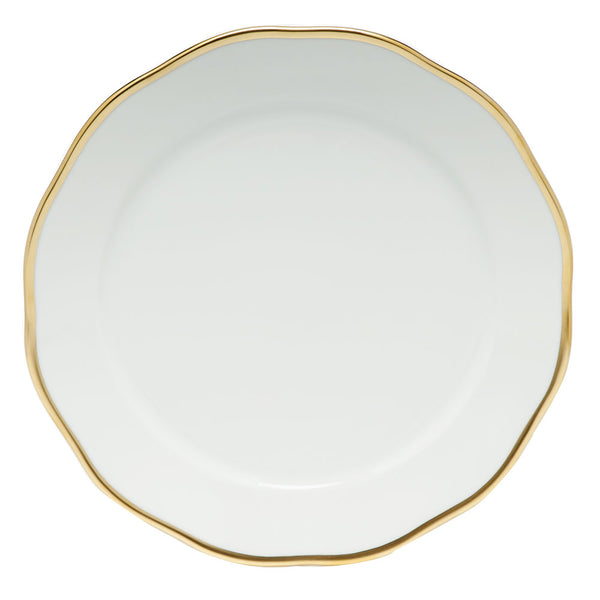 "Herend Gwendolyn Charger, White/Gold 12""D"
