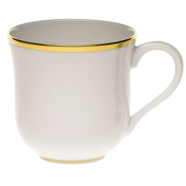 "Herend Gwendolyn Mug, White/Gold 3.5""H"