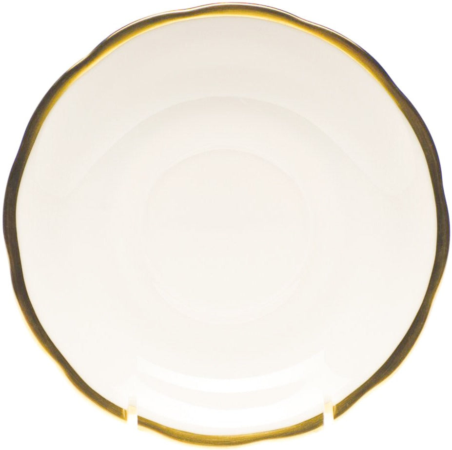 Herend Gwendolyn Tea Saucer, White/Gold 6""