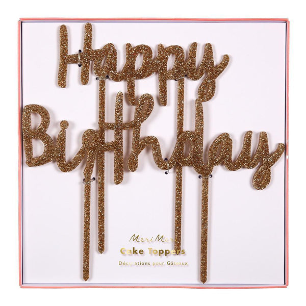 Meri Meri Happy Birthday Acrylic Topper