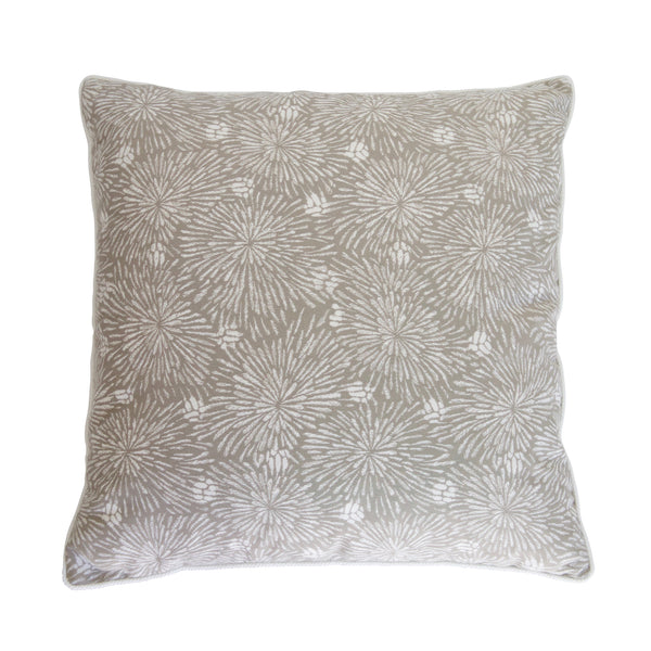 Outdoor Tan & White Fireworks Pillow