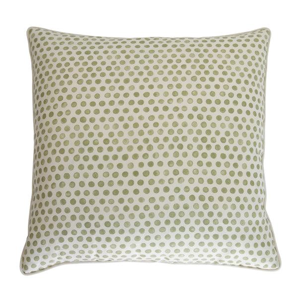 Sage Polka Dot Pillow