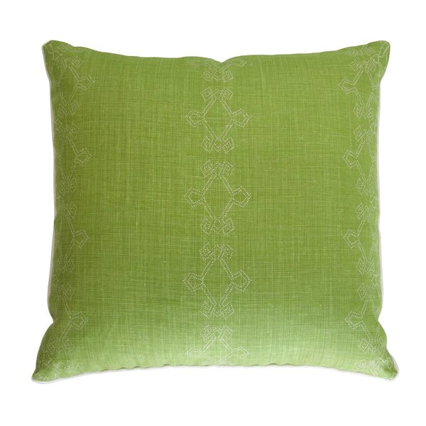 Aswan Parrot Green Pillow